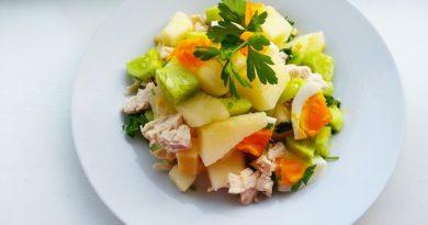 6 диетических салатов из курицы