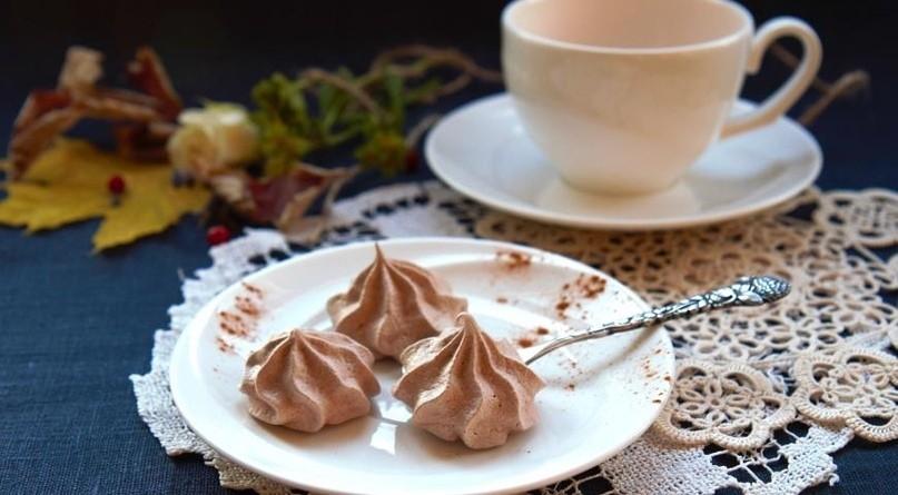 Шоколадные французские меренги