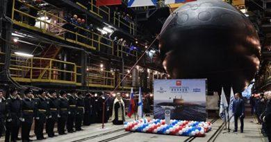 В Петербурге спустили на воду вторую подлодку проекта 636.3
