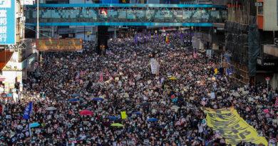 Украинские националисты вышли на улицы Гонконга