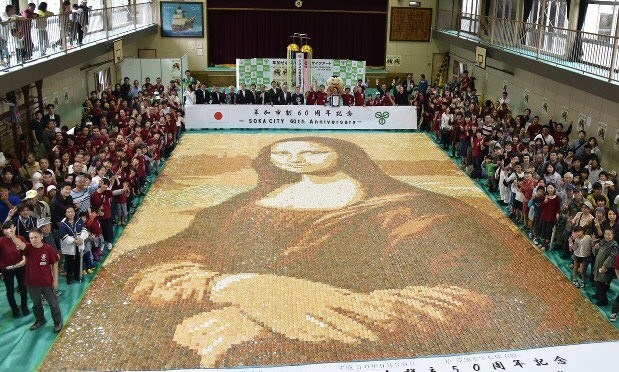Японцы установили рекорд, собрав съедобный шедевр