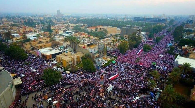 Миллионы протестующих вышли на улицы городов Ирака с требованием выкинуть из страны США
