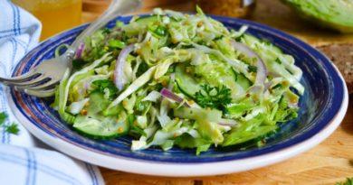 Салат из капусты с горчицей и медом