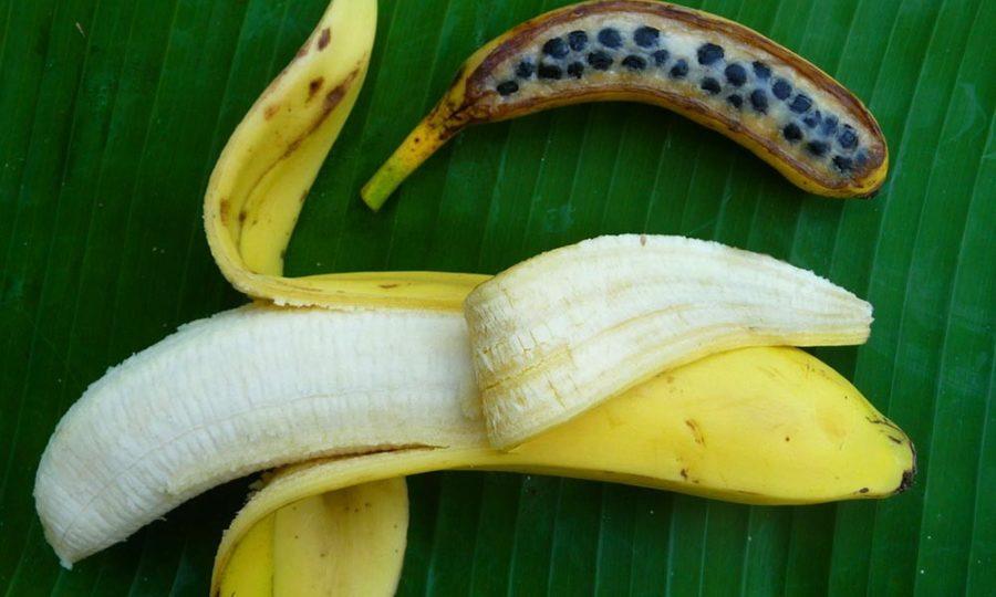 банан с косточкой