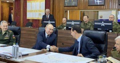 Путин прибыл с визитом в Дамаск и встретился с Асадом