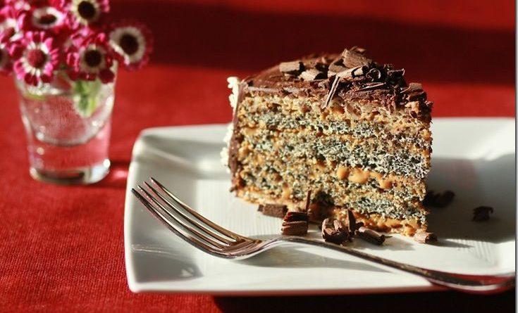 Маковый торт со сгущенкой