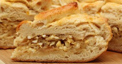 Пирог с квашеной капустой на кефире