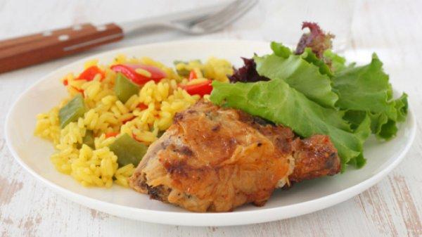 Рис с цыпленком и пряностями