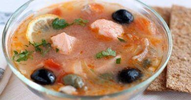Рыбная солянка из осетрины