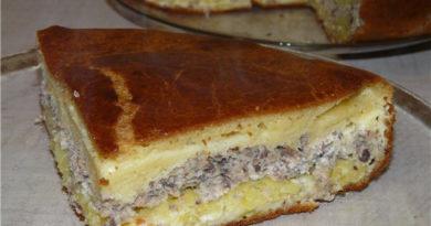 Рыбный пирог на кефире