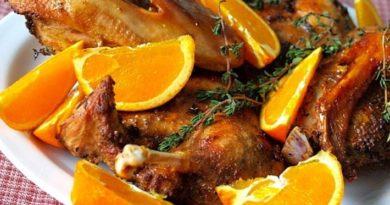 Утка с медом и апельсинами