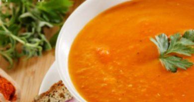 Чили-суп из красной чечевицы и нута