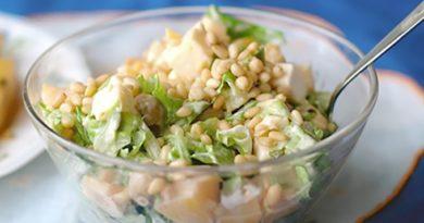 Салат картофельный с орехами
