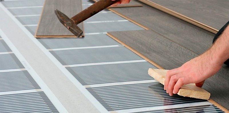 Электрический тёплый пол под ламинат и линолеум на деревянный пол