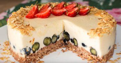 Йогуртовый торт без выпечки — низкокалорийный торт