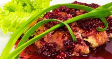 Малиновый соус к мясу