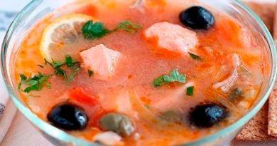 Рыбная солянка из семги