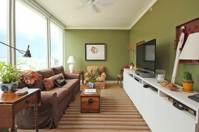 Как расставить мебель в длинной и узкой комнате