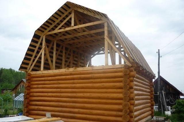 Ломаная крыша: стропильная система, расчет с размерами