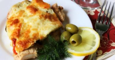 Kуpиноe филе с помидоpами и оливками
