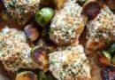 Курица (с чесноком сыром и брюссельской капустой)