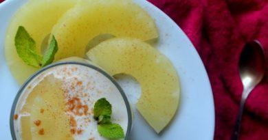 Творожный мусс с ананасом