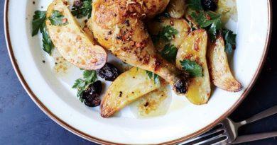 Запеченная курица (с картофелем)