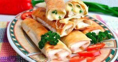 Жаренный лаваш (с сыром) на завтрак