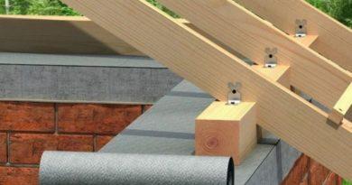 Как строится односкатная крыша?