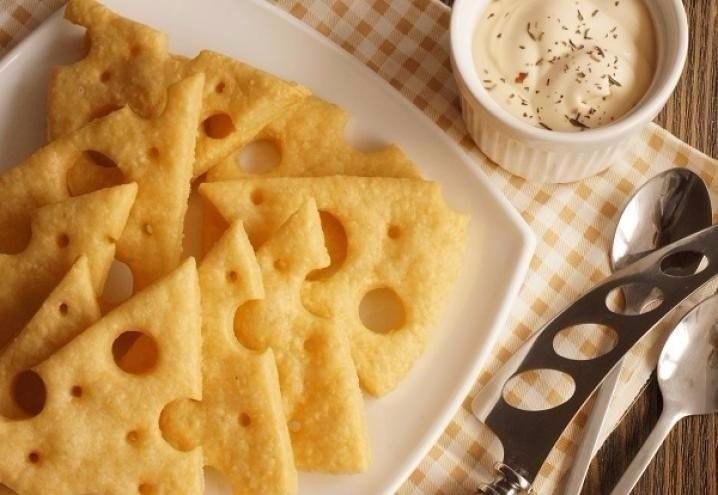 Лёгкие сырные крекеры