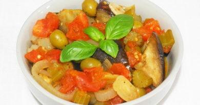 Овощное рагу с оливками Капоната