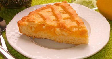 Пирог лимонный из песочного теста