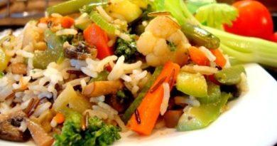 Рисовая смесь (с овощами и грибами)