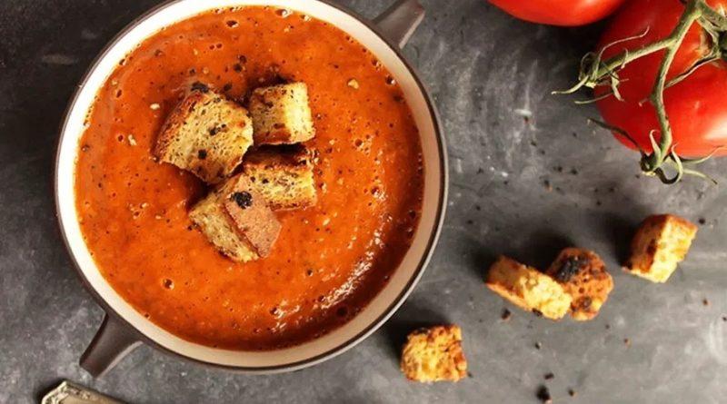 Суп из запеченных томатов и перчиков