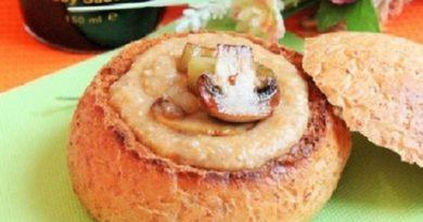 Крем-суп из баклажанов с грибами