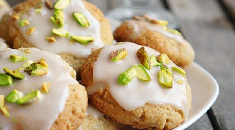 Печенье лимонное (с фисташками)