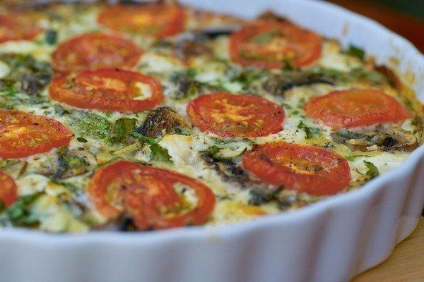 Запеканка со скумбрией и овощами