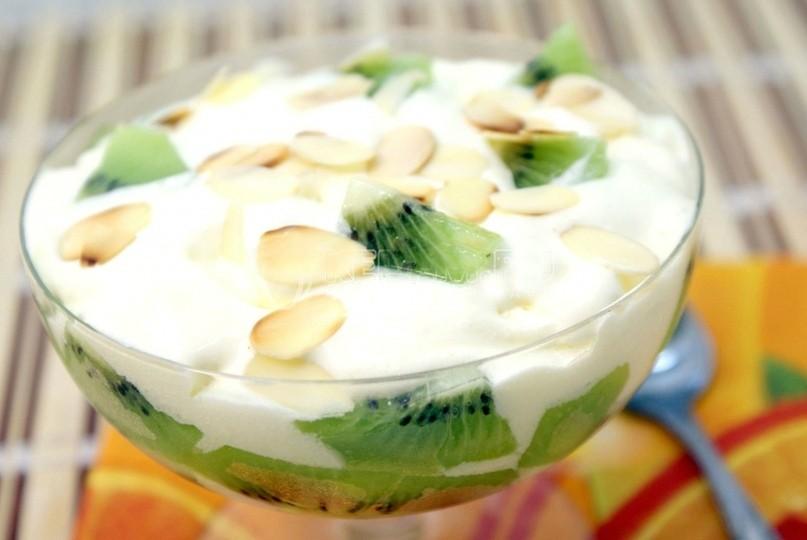Десерт из мороженного «Киви»
