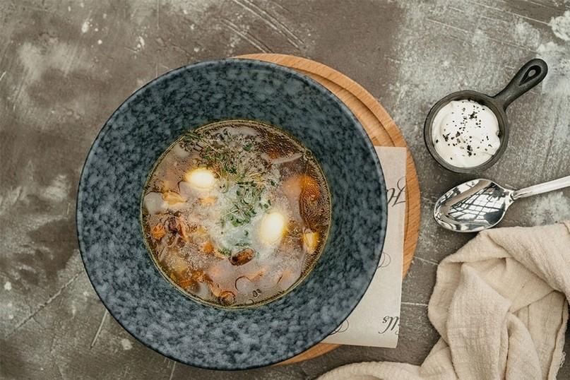Густой польский суп Журек