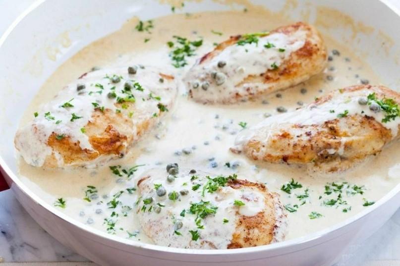 Курица в горчично-сливочном соусе