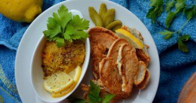 Рыба в кляре со свежим овощным соусом