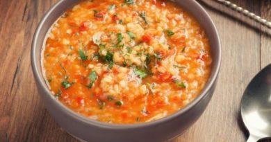 Суп из чечевицы с мясом и тыквой