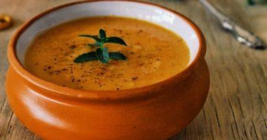 Суп-пюре из перца и цветной капусты