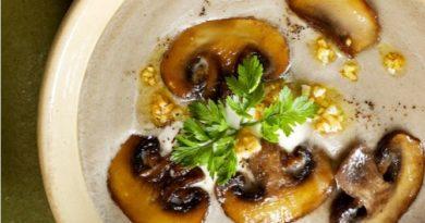 Суп с грибами и сливочным сыром