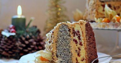 Трехцветный торт