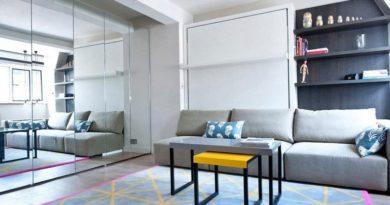 Замечательный интерьер малогабаритной квартиры-студии