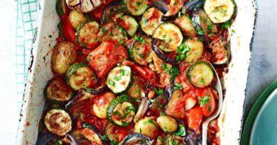 Запечённые овощи по-итальянски