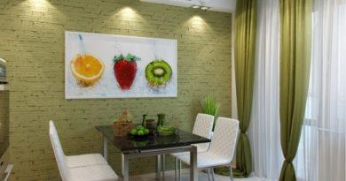 Как красиво оформить одну из стен на кухне