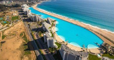 Самый большой в мире бассейн на чилийском курорте Сан-Альфонсо-дель-Мар