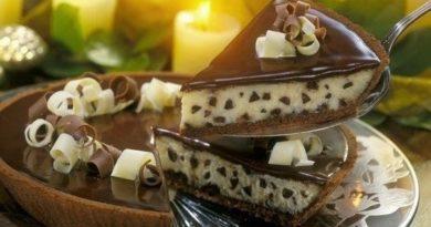 Сливочно-шоколадный торт-чизкейк